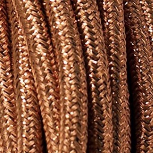 Cable eléctrico metálico en color cobre