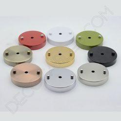 Soporte florón de techo para lámpara metálico en varios colores