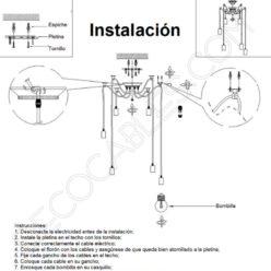 Instalación de lámpara araña