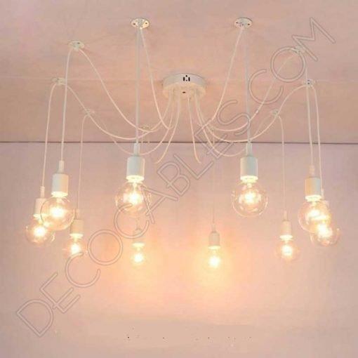 Lámpara araña de silicona blanca