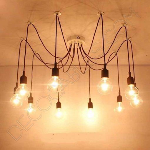 Lámpara araña de silicona negra