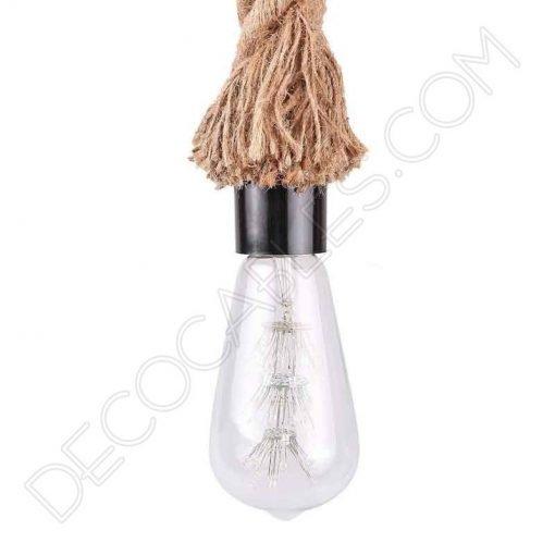 Lámpara colgante de cuerda de soga