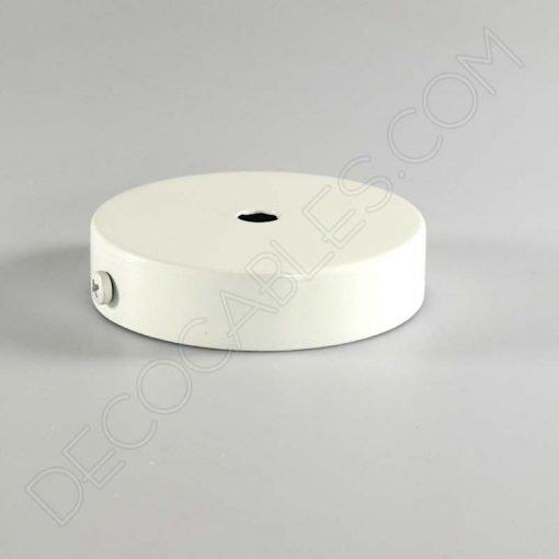 Soporte florón de techo para lámpara de 1 salida color blanco