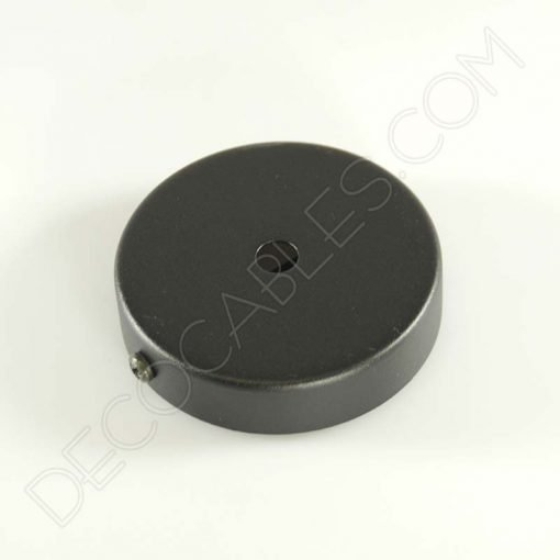 Soporte florón de techo para lámpara de 1 salida color negro