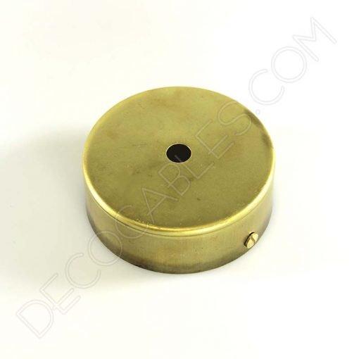 Soporte florón de techo para lámpara de 1 salida color oro viejo
