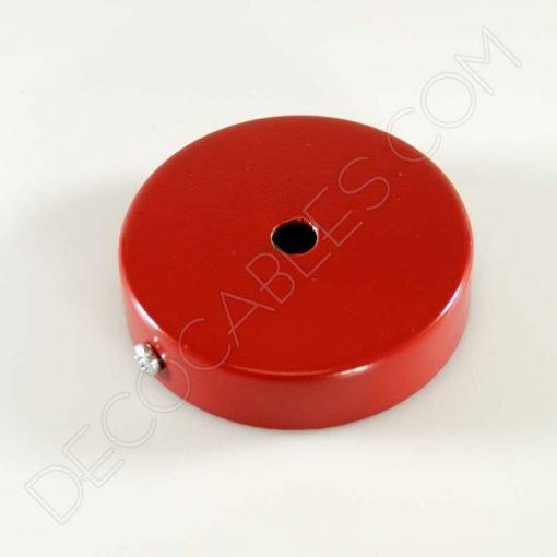 Soporte florón de techo para lámpara de 1 salida color rojo