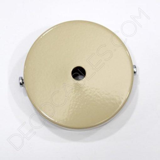 Soporte florón de techo para lámpara de 1 salida color beige