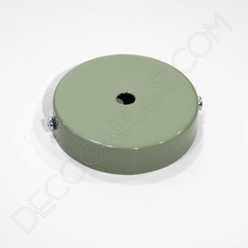 Soporte florón de techo para lámpara de 1 salida color verde pastel