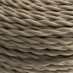 Cable trenzado marrón claro