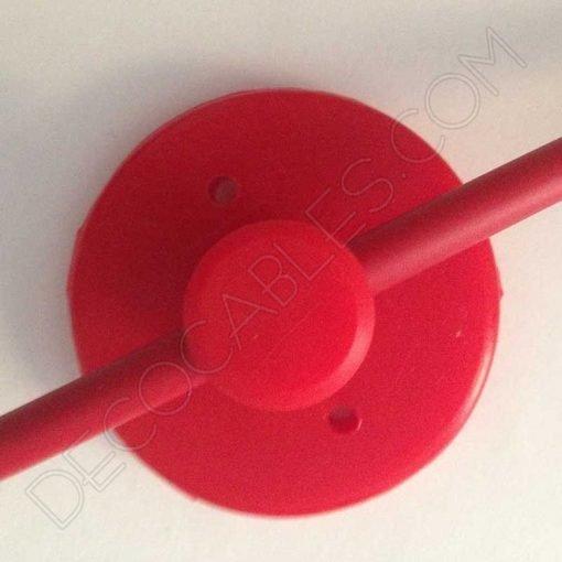 Sujeción de silicona para cables en color rojo