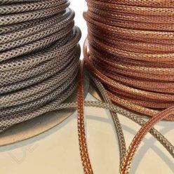 Cable malla metálica cobre y plata