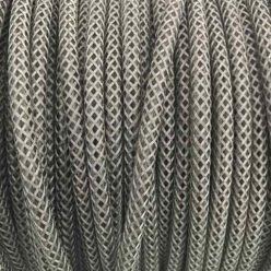 Cable malla metálica plata