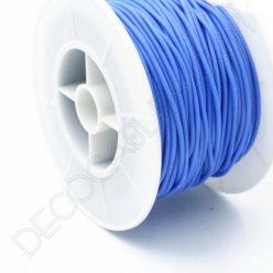Cable eléctrico de silicona azul