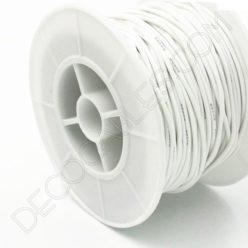 Cable eléctrico de silicona blanco