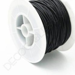Cable eléctrico de silicona negro