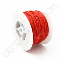 Cable eléctrico de silicona rojo