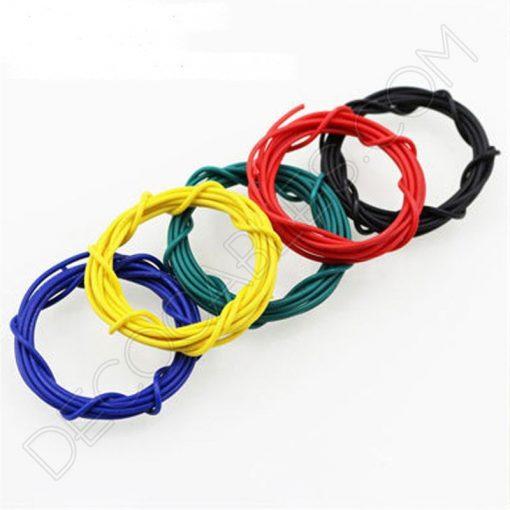 Cable eléctrico de silicona varios colores