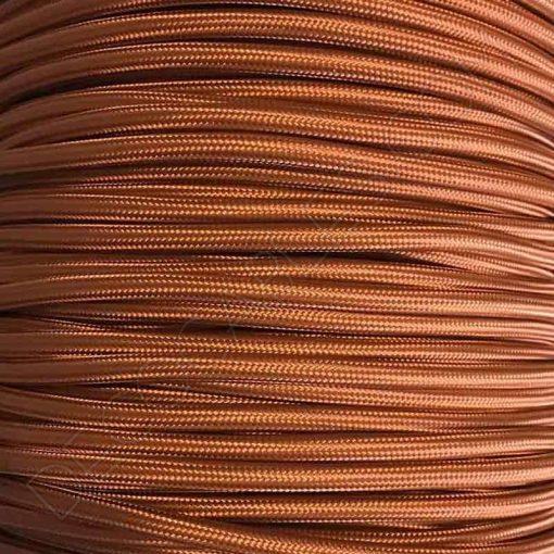 Cable de tela marrón claro
