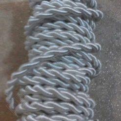 Cable eléctrico trenzado Seda Blanco