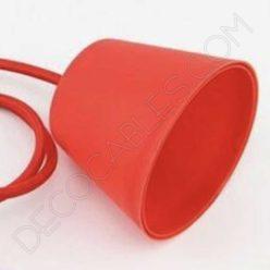 Florón de silicona para lámpara color rojo