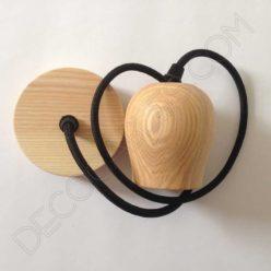 Lámpara colgante de madera modelo bellota