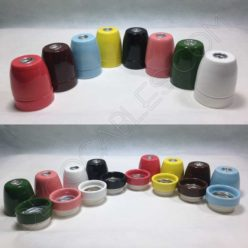 Portalámparas de cerámica en varios colores