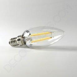 Bombilla Vela de filamento led casquillo E14