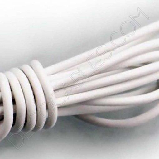 Cable eléctrico decorativo de silicona blanco