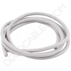 Cable eléctrico decorativo de silicona blanco