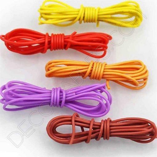 Cable eléctrico decorativo de silicona varios colores
