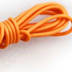 Cable eléctrico decorativo de silicona naranja