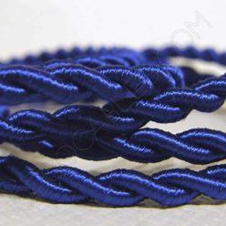 Cable eléctrico trenzado de seda azul