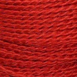 Cable eléctrico trenzado de seda rojo