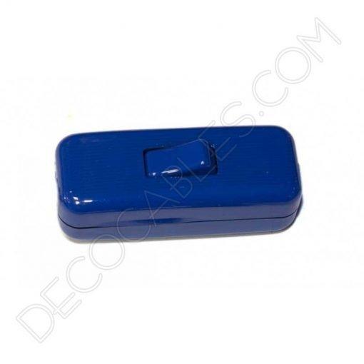 Interruptor de paso en color azul