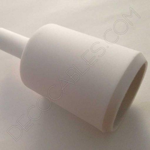 Portalámpara de silicona color blanco