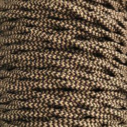 Cable eléctrico trenzado bicolor marrón zig zag