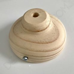 Florón soporte de techo para lámpara en madera modelo semi bola