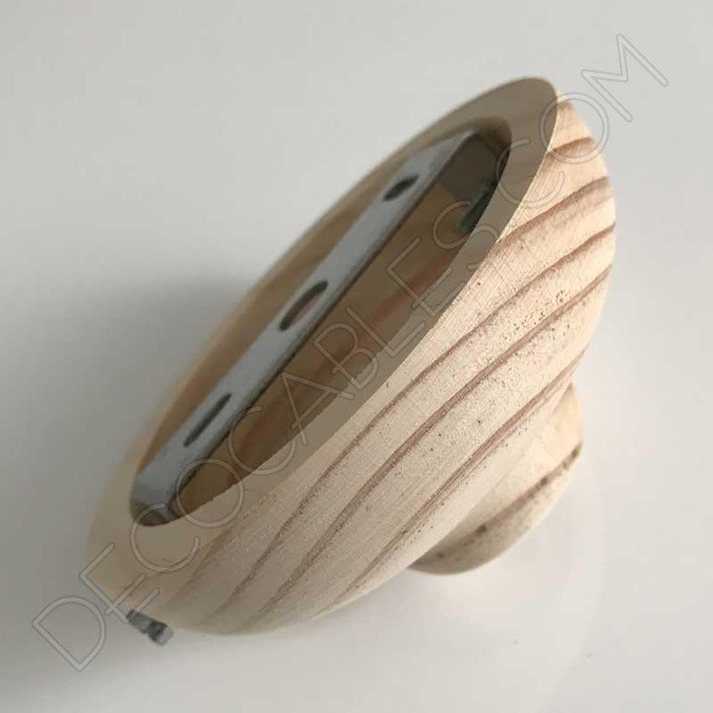 Flor n de madera para l mpara 1 orificio modelo semi bola - Lamparas de madera para techo ...