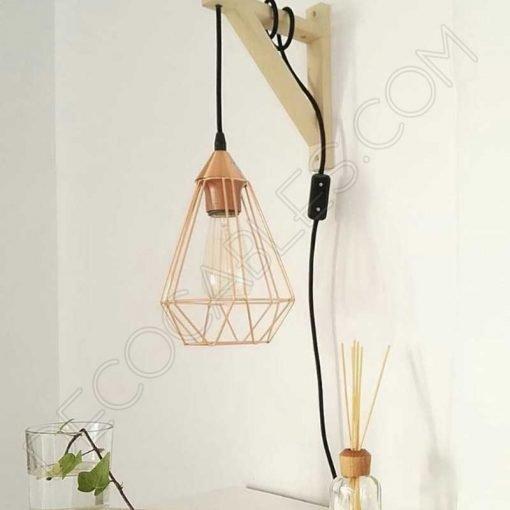 Escuadra de madera para lámpara colgante
