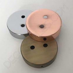 Soporte de techo metálico para lámpara de dos orificios