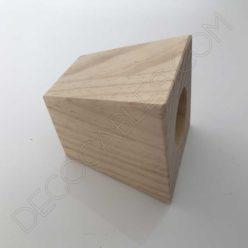 Cubre portalámparas de madera modelo pirámide