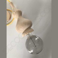Lámpara colgante de madera grande modelo Pináculo