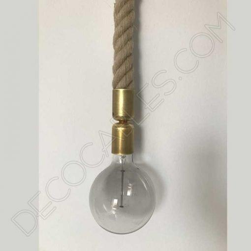 Lámpara colgante de cuerda de soga trenzada