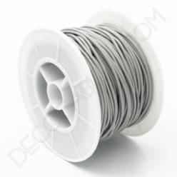 Cable eléctrico de silicona gris
