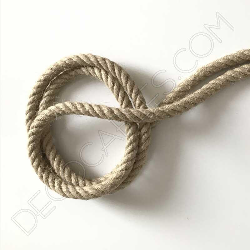 Cable el ctrico trenzado soga de cuerda de c amo de 20mm - Soga de canamo ...