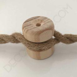 Aislador de madera para cable trenzado