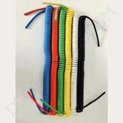 Cable espiral de silicona rojo