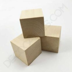 Cubo de madera para cable