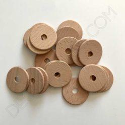 Disco circular de madera para cable