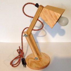 Flexo de escritorio de madera articulado